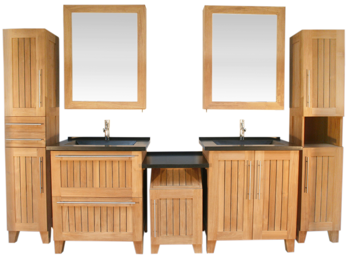 Combination with perfume show case, 2mirror cabinets and laundry bin. See our directory accessories and mirrors for more detail