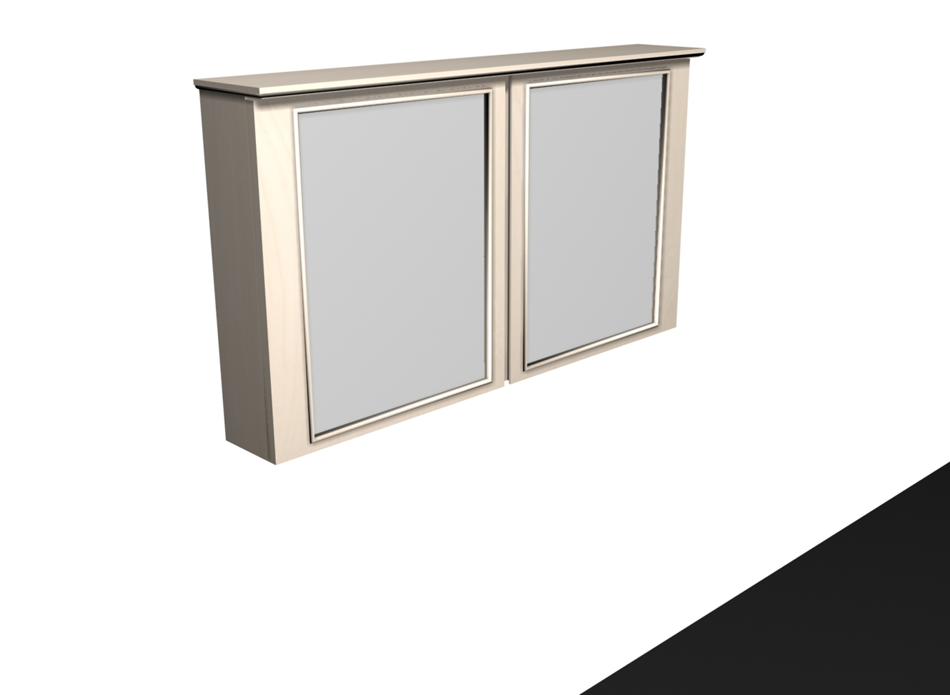 Mindi Wooden Mirror Cabinet Retro Grey Finish 2 Glass Layer. Available With  Or Without Build In LED Light. Easy Mounting Adjustable Hanging System